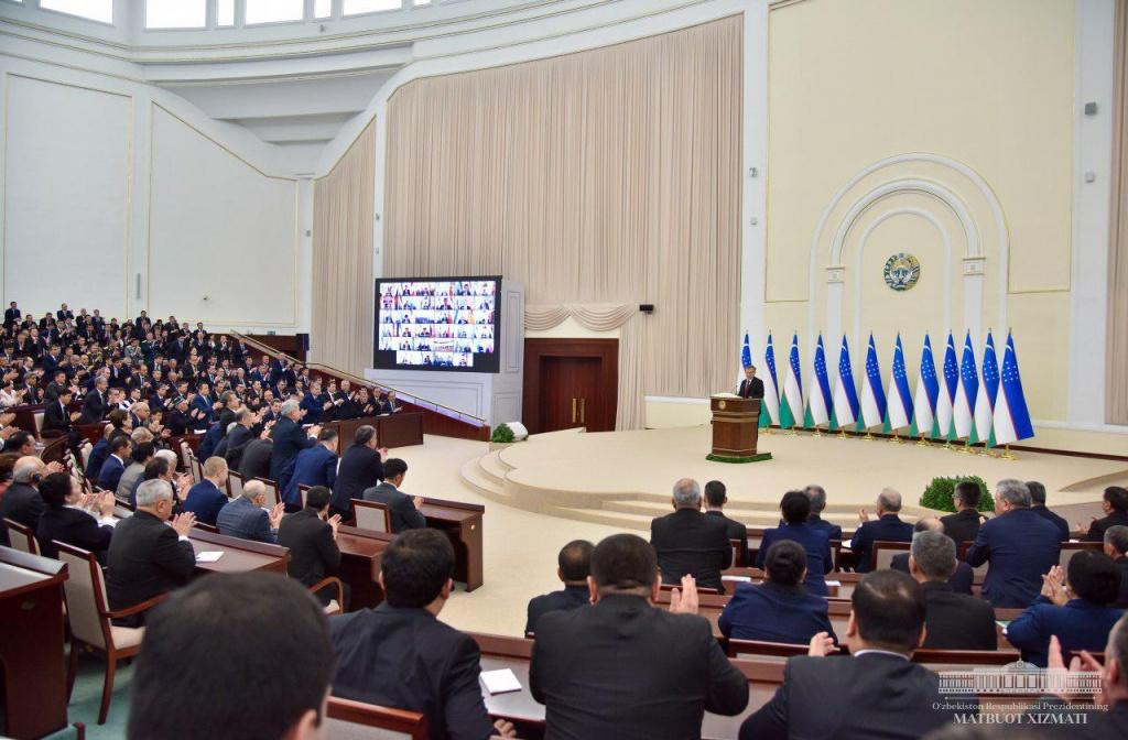 President of the Republic of Uzbekistan addresses the Oliy Majlis